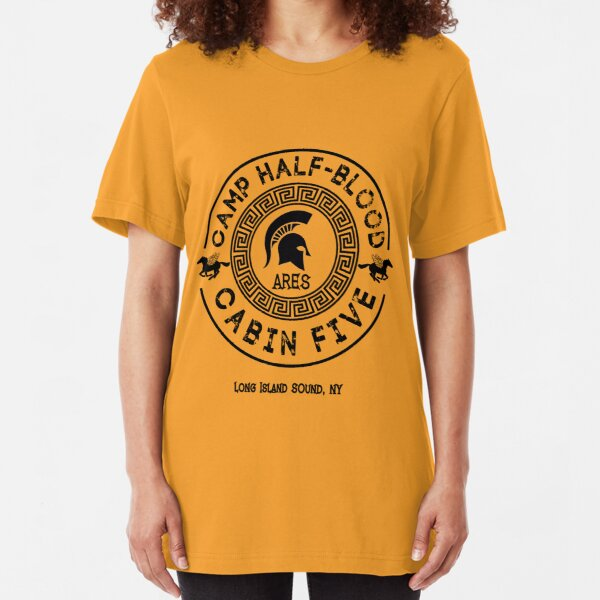 Percy Jackson - Camp Half-Blood - Cabin Five - Ares Slim Fit T-Shirt
