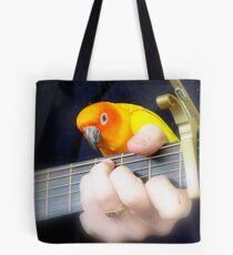 Music Is My Life! - Sun Conure - NZ Tote Bag
