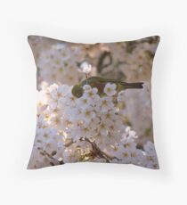 AhahahCHOO!! Blimey I'm Lucky I Don't Have Hay-Fever!! - Silvereye - NZ Throw Pillow