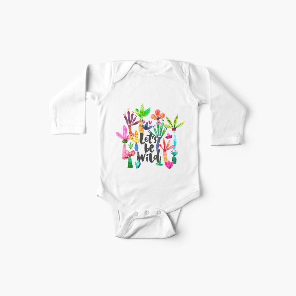 Jungle tropical garden - Fun palms pattern Baby One-Piece