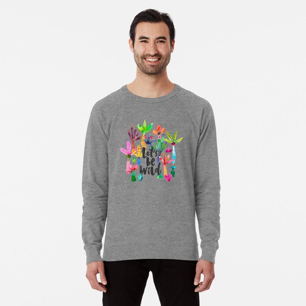 Jungle tropical garden - Fun palms pattern Lightweight Sweatshirt