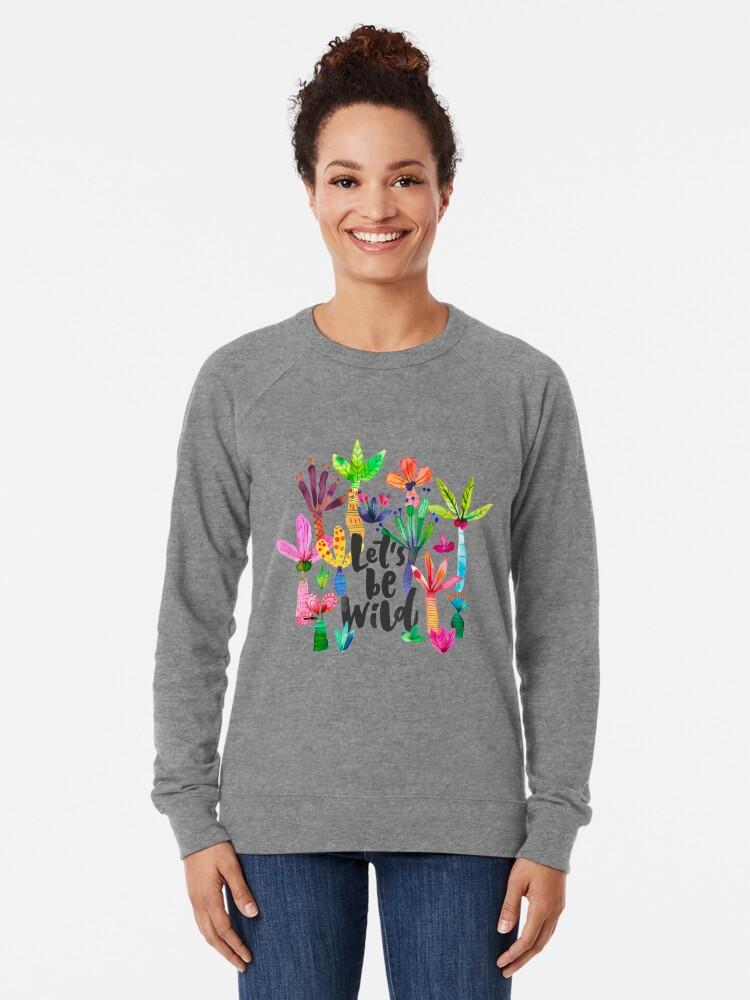 Alternate view of Jungle tropical garden - Fun palms pattern Lightweight Sweatshirt