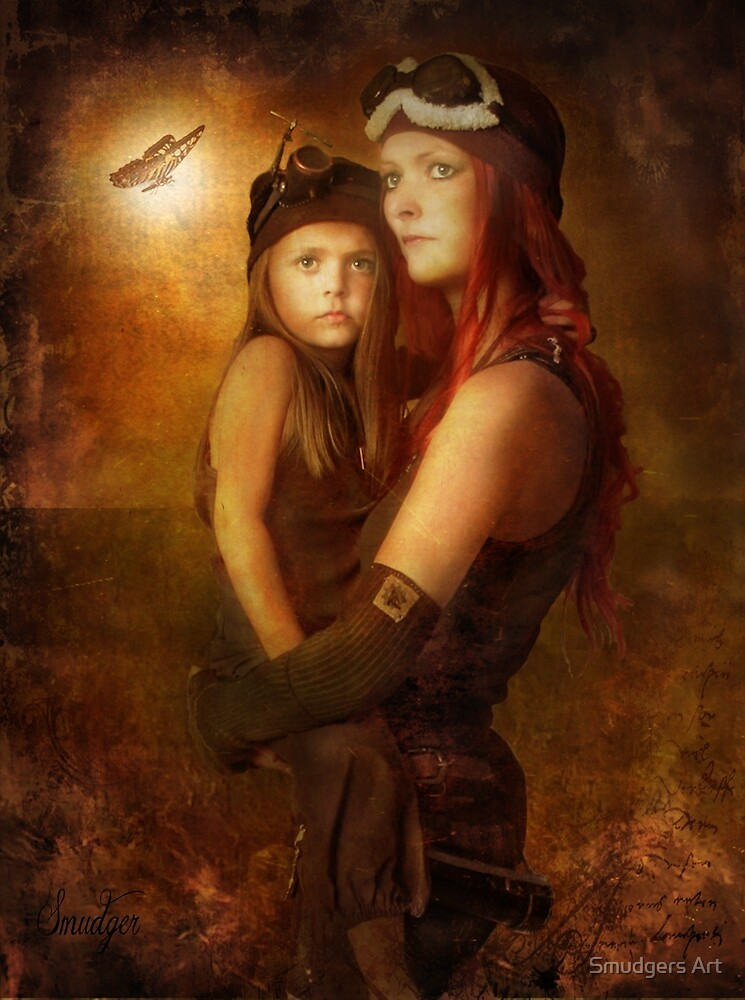 Steam Punk - Mother and Child by Smudgers Art