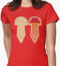 Peanut Butter And Jellyfish Sammich - Strawberry Womens Fitted T-Shirt