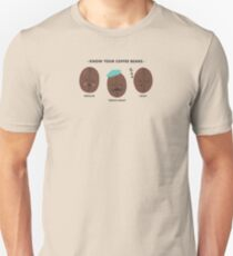 Know Your Coffee Beans Unisex T-Shirt