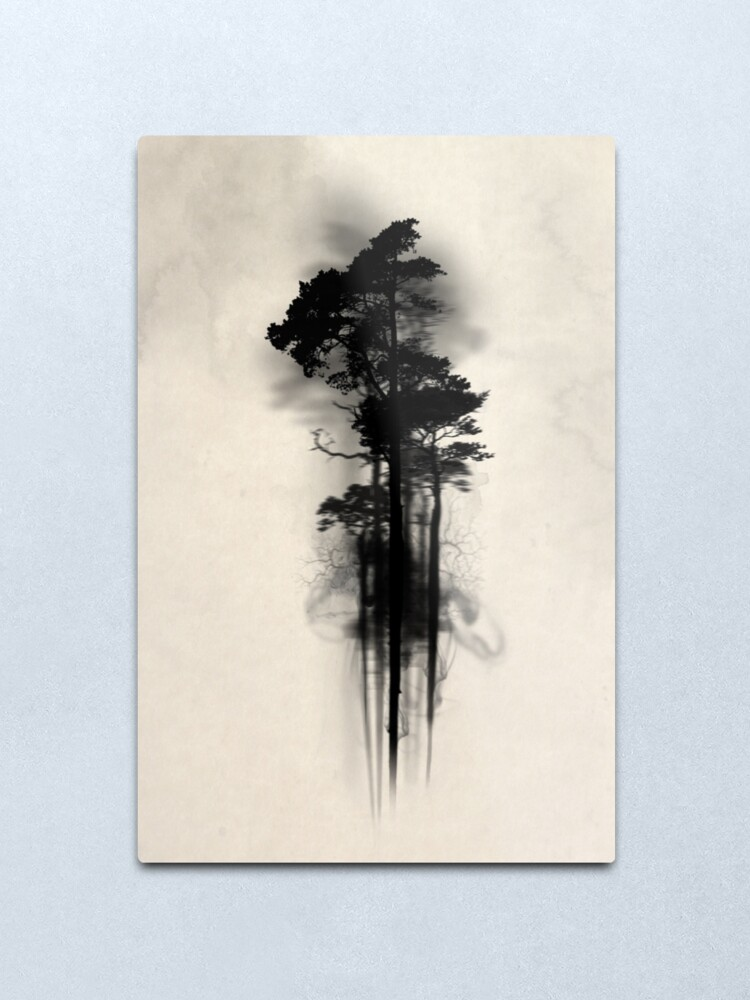 Alternate view of Enchanted Forest Metal Print