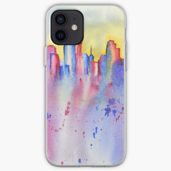 minneapolis skyline splash iPhone Soft Case