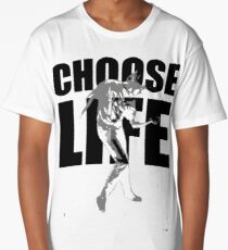 Wham! Wham t shirt Choose life George Michael Wake Me Up Choose Life Silhouette  Long T-Shirt