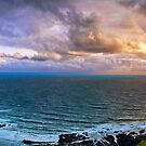Woolacombe Bay - Panoramic  by Smudgers Art