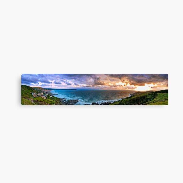 Woolacombe Bay - Panoramic  Canvas Print