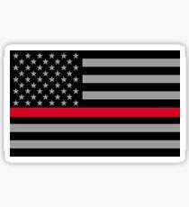 Firefighter Flag Sticker Sticker