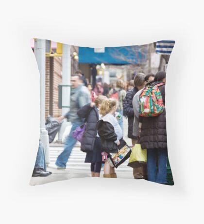 Busy City Throw Pillow