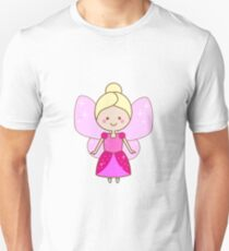 Cute winged fairy in pink dress T-Shirt