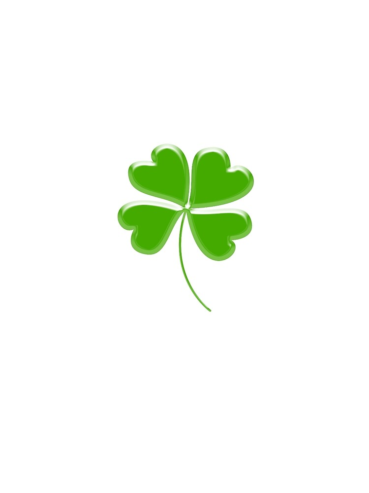 Lucky Four leaf Clover, GOOD LUCK by TOMSREDBUBBLE