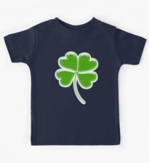 Lucky Four leaf Clover, GOOD LUCK Kids Clothes