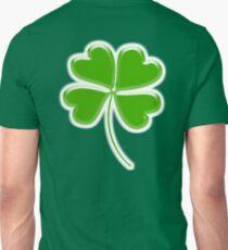 Lucky Four leaf Clover, GOOD LUCK Unisex T-Shirt