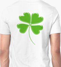 Lucky Four leaf Clover, GOOD LUCK T-Shirt