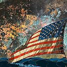 American Flag - Sky & Water by kjadesign