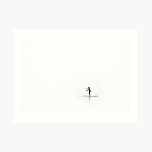 Stand up paddle boarder Art Print