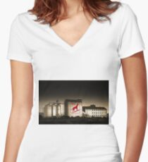 Dingo Flour Mill - Fremantle Western Australia  Women's Fitted V-Neck T-Shirt