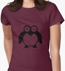 Waddle the Penguin Womens Fitted T-Shirt