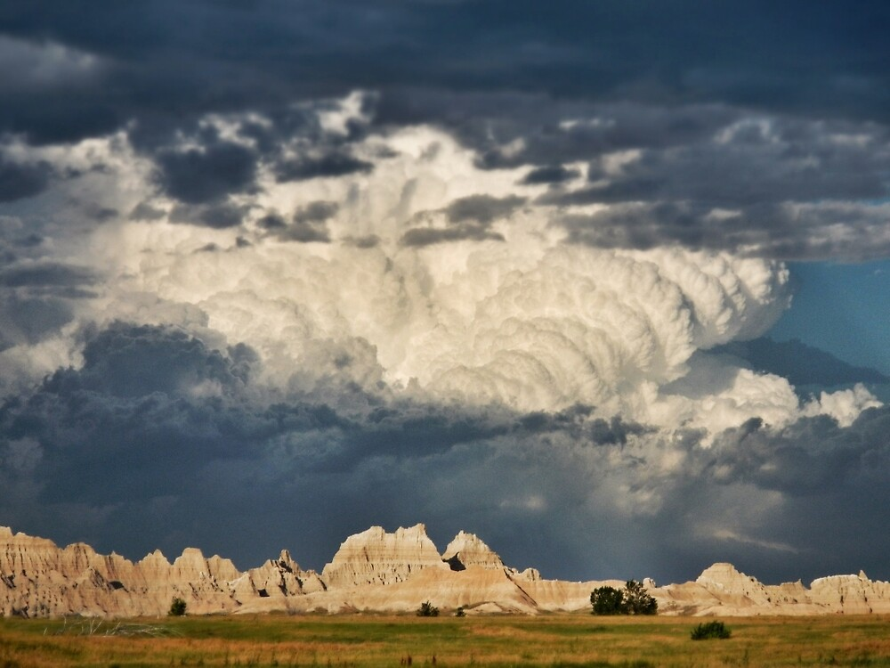 Stormhead over the Badlands by everyonestravel