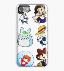 Chibi Studio Ghibli iPhone Case/Skin