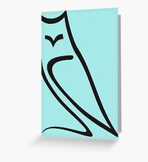 Minimalistic Owl Vector Greeting Card