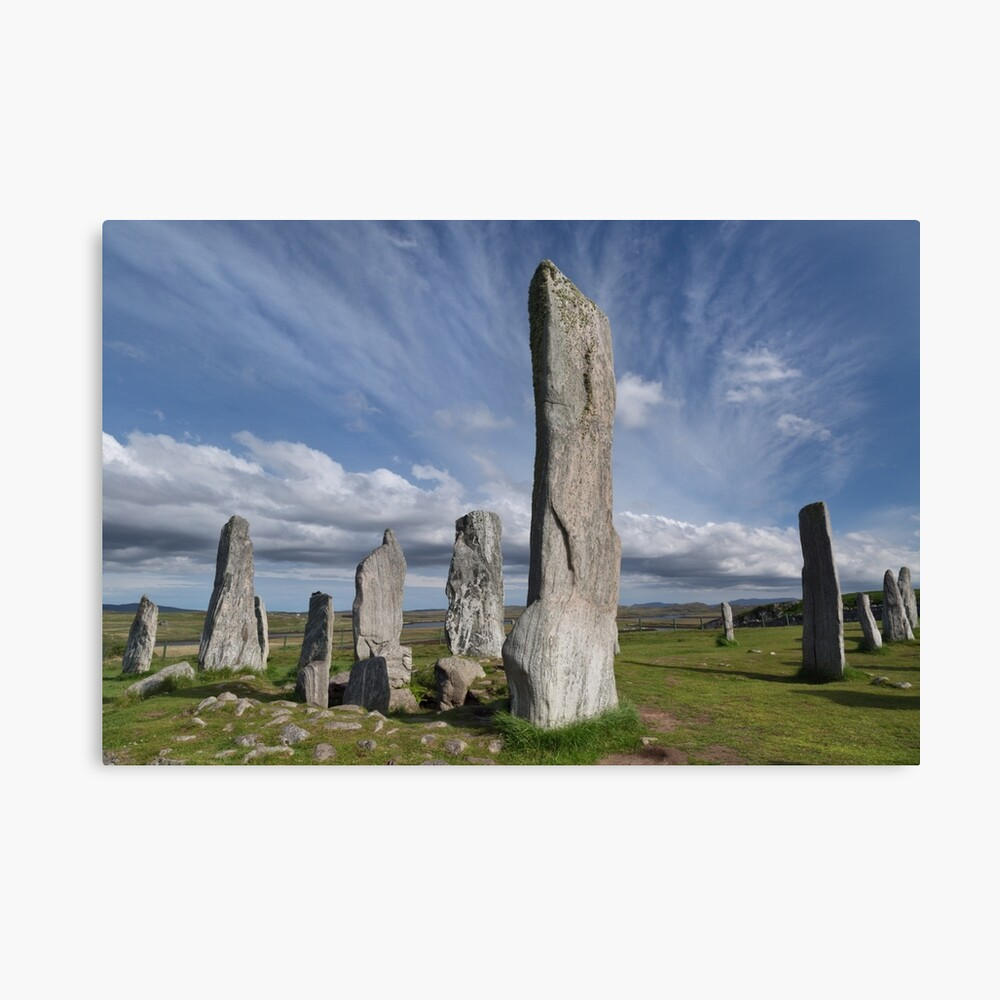 Callanish Stones and Summer Skies. Isle of Lewis. Outer Hebrides. Scotland. Canvas Print