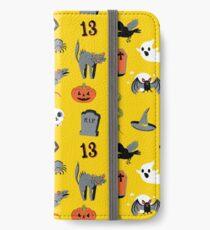 Halloween in yellow iPhone Wallet/Case/Skin