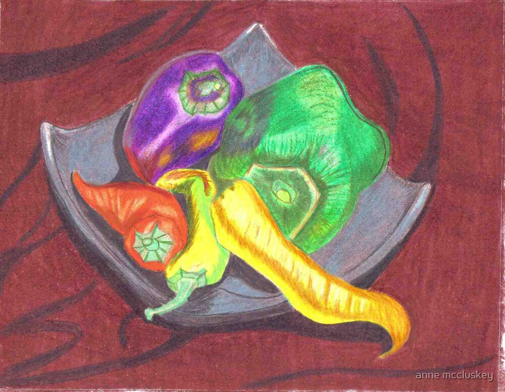 capsicums by anne mccluskey
