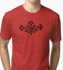 Floral Design Tri-blend T-Shirt