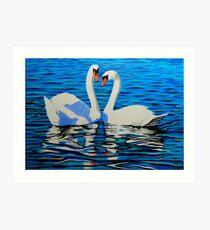 Swan Lake 3 - Love Art Print