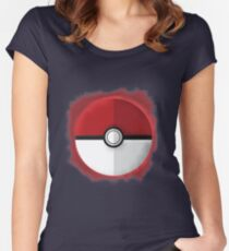 Pokeball Graphic Art Women's Fitted Scoop T-Shirt