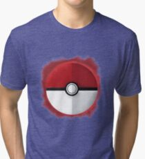 Pokeball Graphic Art Tri-blend T-Shirt