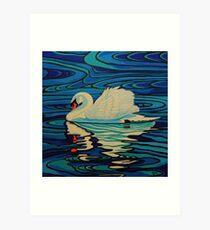Swan Lake 4 - Ripples Art Print