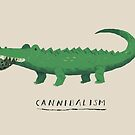 croc cannibalism by louros