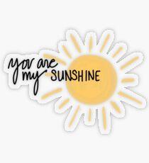Du bist mein Sonnenschein Transparenter Sticker