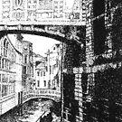 Bridge of Sighs (stipple) by Flux
