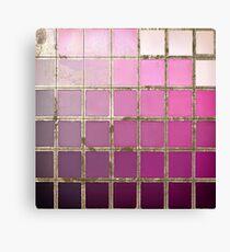 Color Chart Pink Canvas Print
