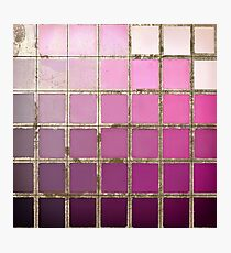 Color Chart Pink Photographic Print
