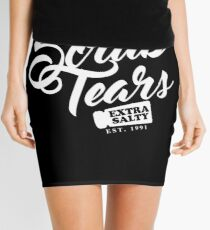 Delectable Scrub Tears, Extra Salty (White Text) Mini Skirt