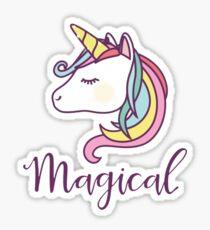 Pegatina Unicornio mágico