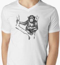 Schimpanse T-Shirt mit V-Ausschnitt für Männer
