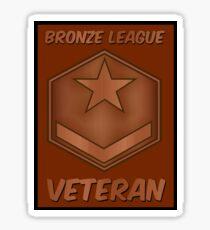 Bronze League Veteran Gamer Gag Gift Sticker