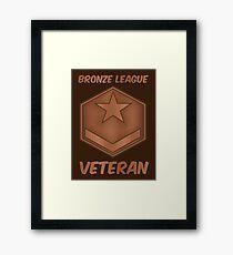 Bronze League Veteran Gamer Gag Gift Framed Print