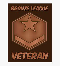 Bronze League Veteran Gamer Gag Gift Photographic Print