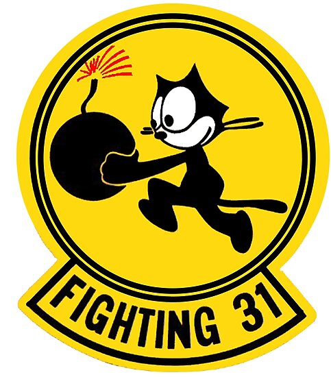 STICKER USN VF  31 Tomcatters FIGHTER SQUADRON FIGHTING 31