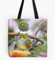 AND SO!!.. Where Is The Better Half?  - Silver-Eye - NZ Tote Bag
