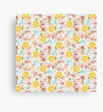 Colourful Summer Flowers Canvas Print